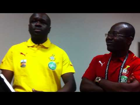 Ghana's Chief of Staff Prosper Bani convey's Presidential message to the Black Stars