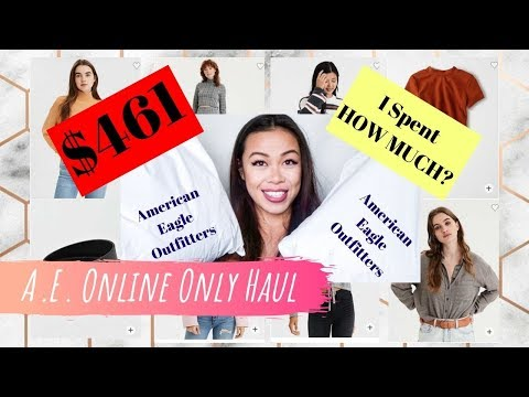 I Spent $461 On American Eagle Outfitters WEB EXCLUSIVES || Try On Haul And Review