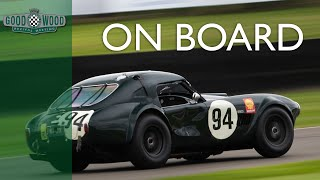 On board Shedden's AC Cobra battling at Revival