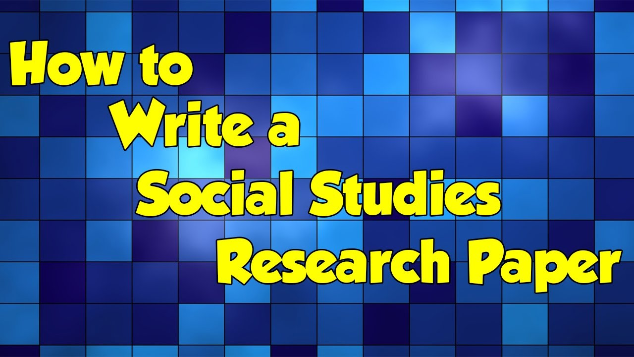 Do research paper social sciences