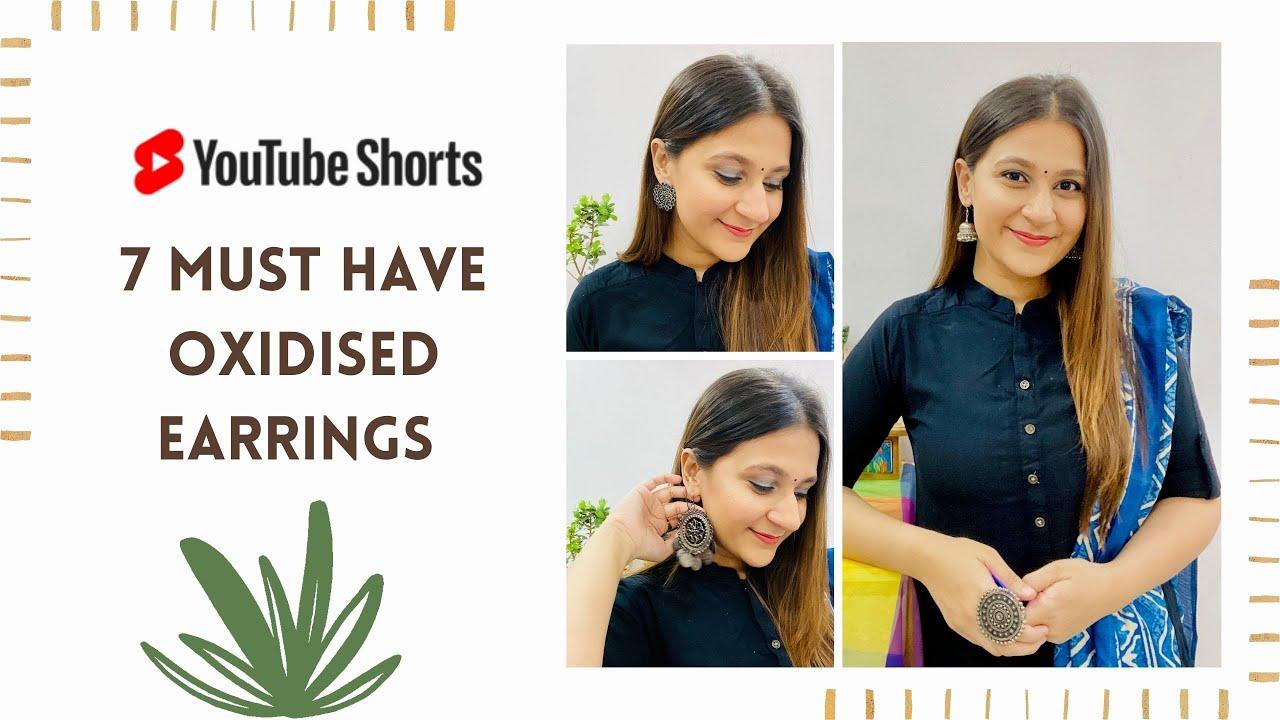 7 Oxidised Earrings You Must Own   Shirin Talwar   #shorts