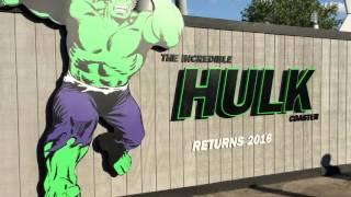 Universal Orlando Hulk Coaster gets smashed as it gets refurbished
