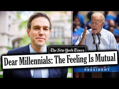 Pretentious NY Times Writer Cheers on Joe Biden's Millennial Bashing