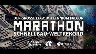Der große LEGO Millennium Falcon Marathon Schnellbau-Weltrekord