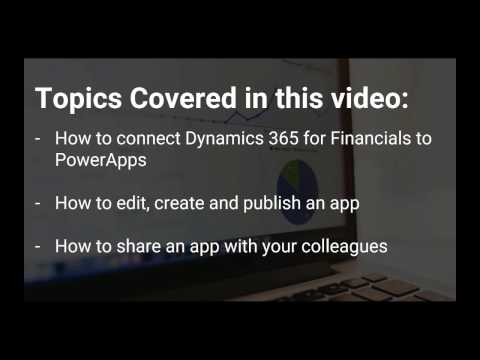 Microsoft PowerApps for Dynamics 365 for Financials