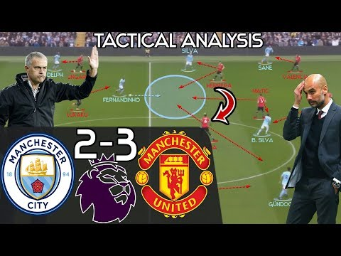 Mourinho's 2nd Half Comeback Win VS Pep EXPLAINED: Manchester City 2-3 Man United -Tactical Analysis