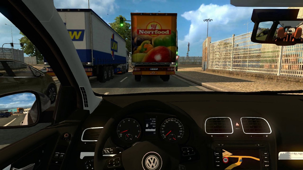 Euro Truck Simulator 2 Vw Golf 6 Download Link Youtube