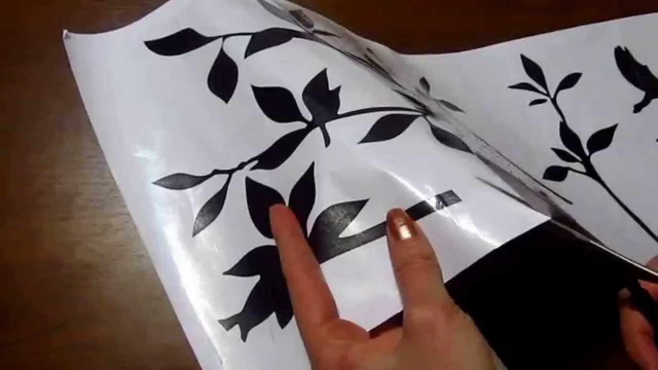 Инструкция: Как наклеить виниловую наклейку на стену - YouTube