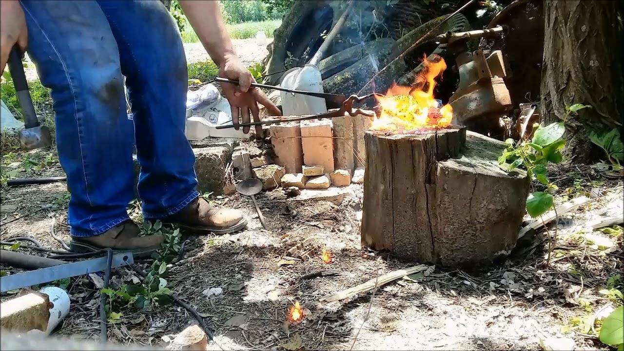 aristo ocağında antik demir yapımı-