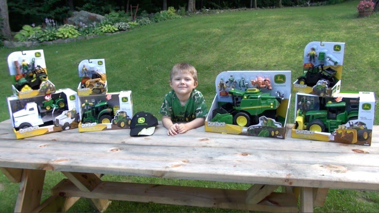 Tractor Toys For Boys : Little boy loves john deere tractor truck toys youtube
