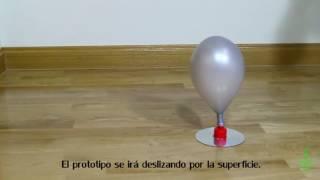 Aerodeslizador. Experimentos (Divertiaula). Balloon Hovercraft.