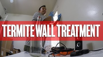 Treating My Walls For Termites | Pest Control Vlog