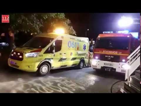 Herido el conductor de un coche tras impactar contra un muro en Laredo