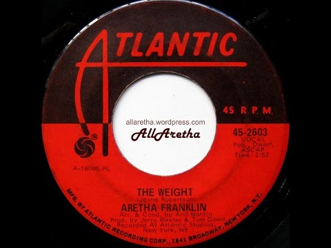 """Aretha Franklin - The Weight / Tracks Of My Tears - 7"""" - 1969"""