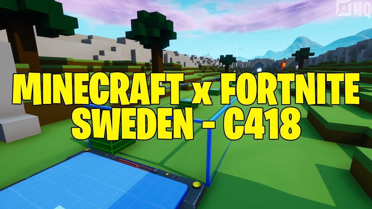 Billie Eilish Fortnite Song Minecraft X Fortnite Sweden C418 Ps4gamerfoo Fortnite Creative Map Code