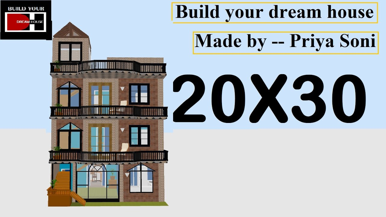 20x30 House Design By Build Your Dream House 20 X 30 के