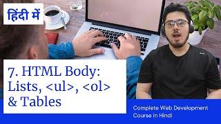 HTML Tutorial: Lists and Tables   Web Development Tutorials #7