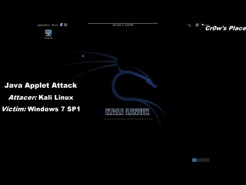 Java Applet Attack - Compromising A System (HD)