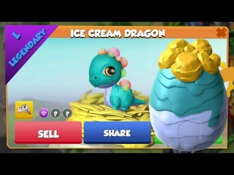 LEGENDARY Ice Cream Dragon Hatching! - Dragon Mania Legends #227