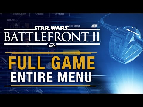 Star Wars Battlefront 2 All Menu Options (Early Access)   Battlefront 2 Exclusive
