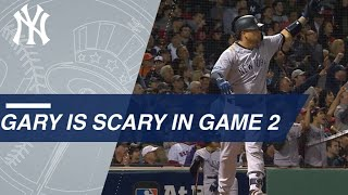 Gary Sanchez's two homers in Game 2