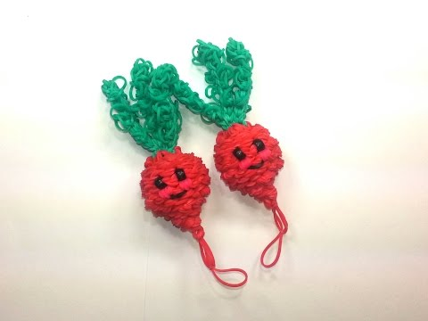 3-D Happy Radish Tutorial by feelinspiffy (Rainbow Loom)