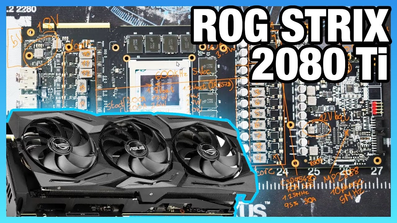 ASUS ROG Strix 2080 Ti VRM, PCB, & Mod Bypasses to NV Limits