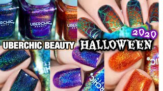 🧛‍♀️ UBERCHIC BEAUTY HALLOWEEN 2020 POLISHES REVIEW AND SWATCHES 🕸 Spider Web Nails (2020)