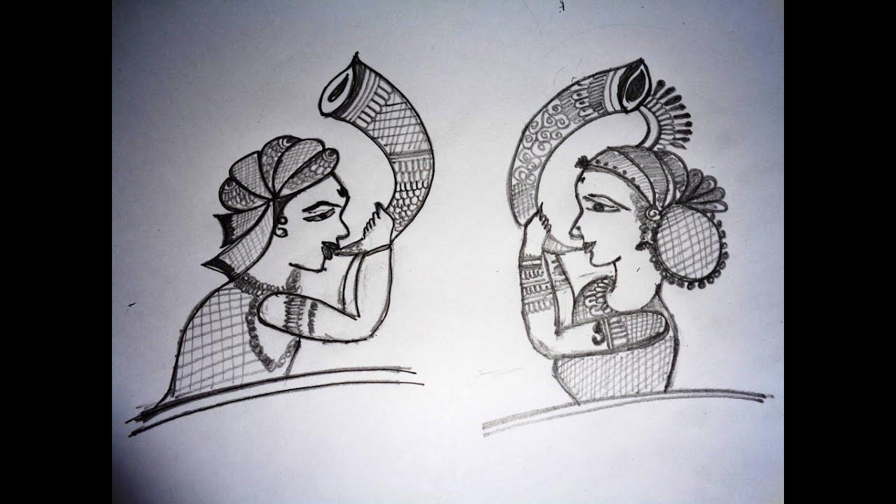 Mehndi Drawing Photos : How to draw bridal mehndi basic shape on paper youtube
