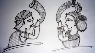 how to draw bridal mehndi basic shape on paper