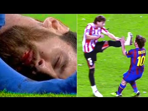 Players Hunting on Lioniel Messi ● Horror Tackles● Brutal Fouls ● HD 1080p