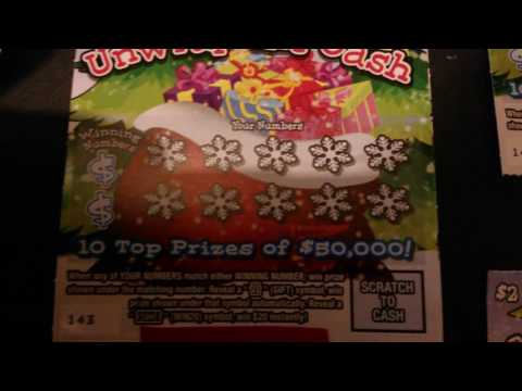 """PA Lottery $2 """"Unwrap the Cash"""" Christmas Tickets ***$10 Challenge***"""