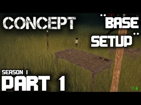 "Concept Gameplay / Let's Play (S-1) -Part 1- ""Base Setup"""