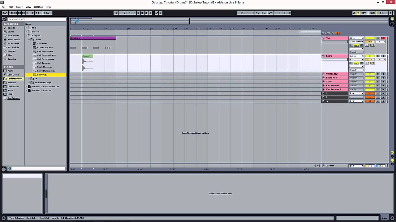 Ableton Live Free Dubstep - Making a Complete Track Start to Finish  Beginners