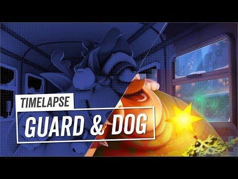 3D Timelapse | Guard & Dog | Subway Surfers