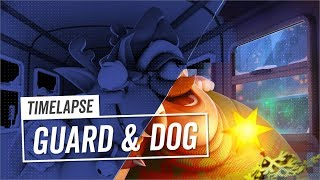 3D Timelapse | Guard & Dog | Subway Surfers