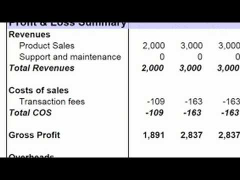 Basic Accounting : Preparing a Profit & Loss Statement - YouTube