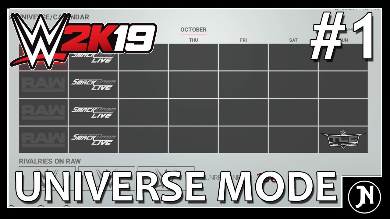 WWE 2K19 Universe Mode - Setting Up - Episode 1