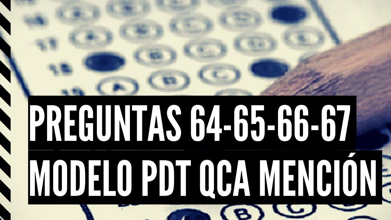 PREGUNTAS 64 - 65 - 66 - 67 MODELO CIENCIAS QUÍMICA PTD 2021