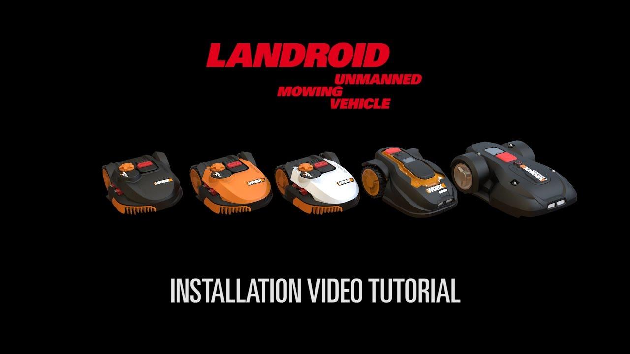 worx landroid m l s robot rasaerba installazione italiano youtube. Black Bedroom Furniture Sets. Home Design Ideas