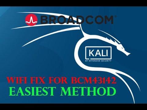 broadcom bcm43142 drivers on kali linux