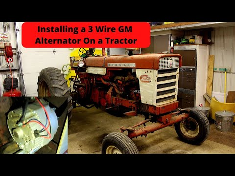 How to Install a GM 3 Wire Alternator on a Tractor (Farmall 560 Gas)