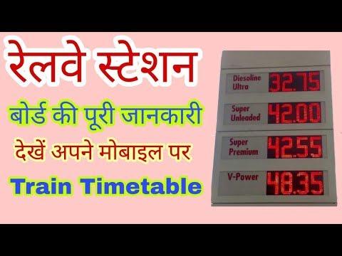 Kisi bhi train ka timetable dekhe mobile se