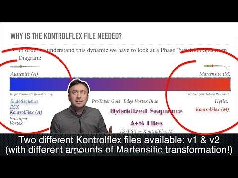 KontrolFlex File: Martensitic Files vs. Austenitic Files