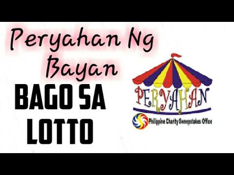Wala ng STL! BAGONG LARO NG LOTTO PERYAHAN NG BAYAN!