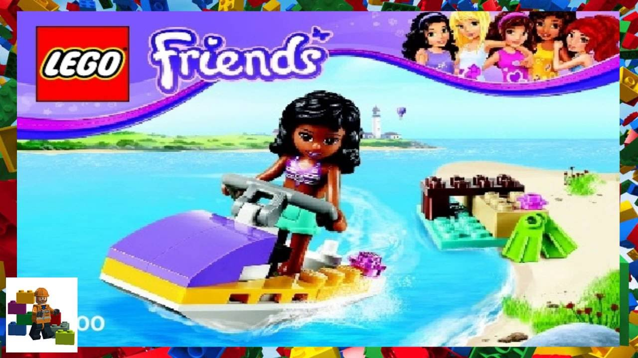 Lego Instructions Lego Friends 41000 Water Scooter Fun Youtube