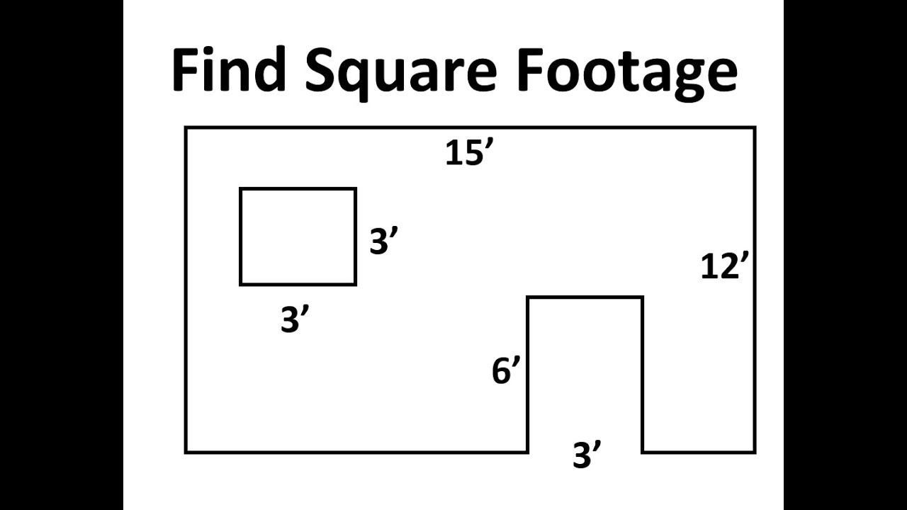 Find Square Footage of a Wall, not including the window and door
