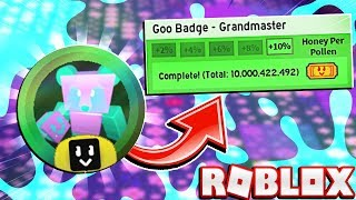 Ottenere il distintivo Goo Grandmaster MORE HONEY PER POLLEN In Roblox Bee Swarm Simulator