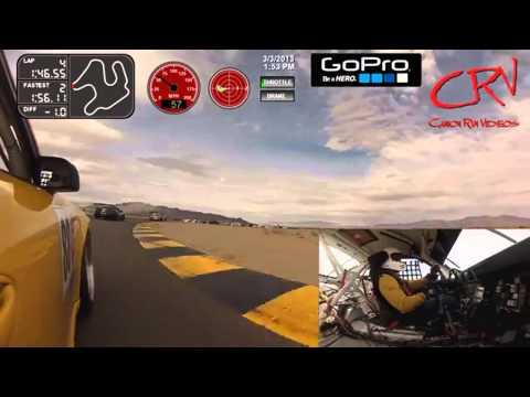 Carl Tofflemire racing his Porsche GT3 Cup Car at Chuckwalla Valley Raceway on 3/3/2013
