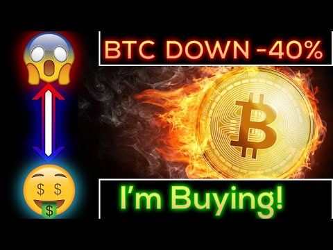 Bitcoin Crashes -40% - I'm Buying Loads At Cheap Prices!